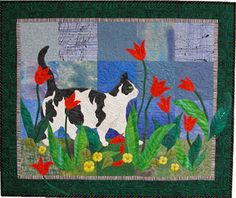 Tiptoe, lots of hand beading on this one, by Ann Fahl