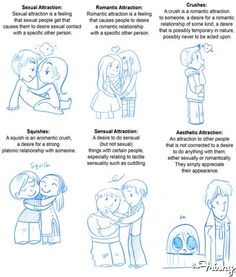 """Laws of Attraction: The Difference Between a """"Squish"""" and a Crush  ... Ugh! Having such a hard time verbally explaining to myself the difference between romantic and platonic love. They feel so similar, yet slightly different to me!"""