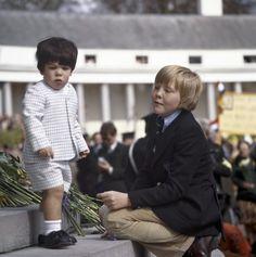 Bernardo avec son cousin Willem Alexander