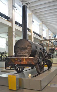Robert Stephenson's Rocket, the first modern steam locomotive