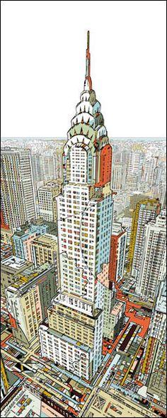 Manhattan Print by HR-FM  Fine Art Prints from $48  http://www.eyesonwalls.com/collections/fine-art-prints/products/manhattan#  #art