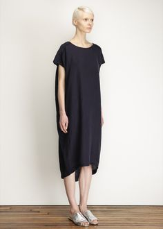 $209 Black Crane Cocoon Dress (Navy)