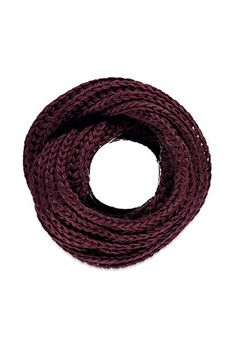 Chunky Knit Infinity Scarf | Forever 21 - 1000162553 love the BURGUNDY AND CAMEL