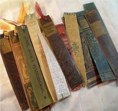 Awesome recycled book spine page markers paint stir sticks lamp shade (projects, crafts, DIY, do it yourself, interior design, home decor, fun, creative, uses, use, ideas, inspiration, 3R's, reduce, reuse, recycle, used, upcycle, repurpose, handmade, homemade, retro, vintage, antique, books)