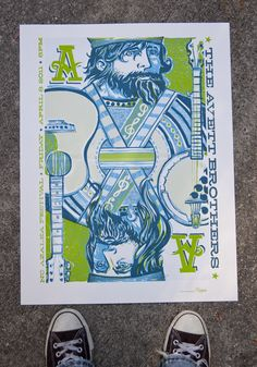 Avett Brothers Gig Poster by I Am Reedicus Screen Print Poster, Poster Prints, Gig Poster, Band Posters, Cool Posters, Music Posters, Festival Posters, Concert Posters, Screen Printing