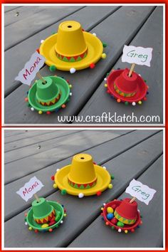 Cinco De Mayo is a fun day to celebrate Grab a margarita and start crafting some easy sombreros cinco de mayo craft cinco de mayo decorations craft craft ideas crafting crafts diy easy flower pot crafts hat how to kids craft mexican sombrero sombreros Mexican Fiesta Party, Fiesta Theme Party, Taco Party, Festa Party, Mexican Fiesta Decorations, Fiesta Party Centerpieces, Mexican Desserts, Flower Pot Crafts, Clay Pot Crafts