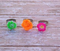 Little Girls Rose Ring Set, Recital Gift, First Communion Gift, Flower Girl Rings, Jr.Bridesmaid, Birthday Favors, Graduation Gift by JewelsbyRosies on Etsy