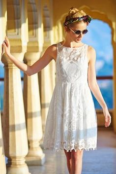 Maeve Pina Lace Dress @Anthropologie #Anthropologie #anthrostle