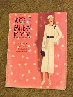 Vogue Pattern Book, June-July 1932 featuring Vogue 5980