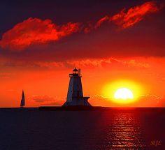 Sundown in Ludington, Michigan