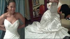 Beyonce's bridal gown.
