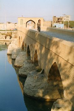 Shahrestan Bridge . Isfahan Iran   UNESCO World Heritage Site