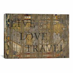 Found it at Joss & Main - Live Love Travel Canvas Print