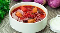 Ciorbă ucraineană (cu varză și sfeclă roșie) – o rețetă simplă care sigu... Thai Red Curry, Chili, Cabbage, Soup, Vegetables, Youtube, Ethnic Recipes, Facebook, Food And Drinks