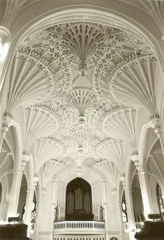 Interior de Iglesia de Unitario en Charleston, Carolina del Sur
