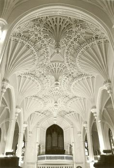 White .. Interior of Unitarian Church in Charleston, South Carolina