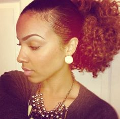 {Grow Lust Worthy Hair FASTER Naturally} ========================== Go To: www.HairTriggerr.com ========================== Slicked Down Edges and a Big Curly Pony!....That's What's Up!!!!....Plus Those Eyebrows Are Perfection!!!