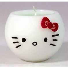 White Hello Kitty Aroma Candle Apple Scent and like OMG! get some yourself some pawtastic adorable cat apparel! Hello Kitty Bathroom, Hello Kitty Rooms, Kawaii, Hello Kitty Merchandise, Hello Kitty Collection, Little Twin Stars, Candle Making, Sanrio, Scented Candles