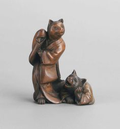 Netsuke: Cat Prostitute and Client Japan, 19th century The Museum of Fine Arts, Boston