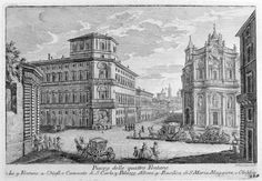 G. Vasi - Piazza Quattro Fontane, 1752 - Acquaforte