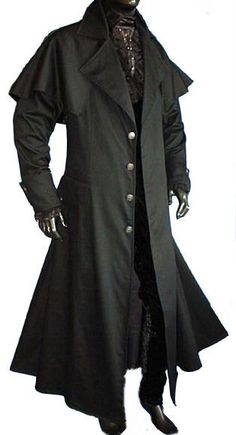 Kutscher Mantel Matrixo Gothic Larp Vampir S-XXXL