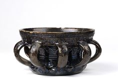 Wassail bowl, (dated). Wassail bowl with dark brown glaze and incised decoration. English, probably Wiltshire, dated Museum Number Wassail Recipe, English Pottery, The V&a, Victoria And Albert Museum, Rustic Kitchen, Earthenware, Metal Working, Amazing Art, Ceramics