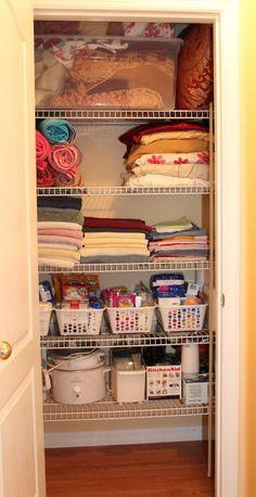 linen closet organization pinterest | ... little organization, here is the final look of my linen closet