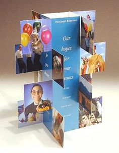 THIS COULD BE ALL PICS FOR A FUN BIRTHDAY OR ANNIVERSARY DISPLAY // Photo tent display you can make with your own photos