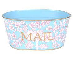 Handbemalte Schale Floral Mail