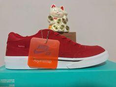 Nike SB GTS QS x Supreme Gym Red White Black New Size 8.5 [801621-661]