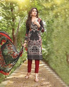 "D-Onlineshop on Twitter: ""Vijay Indian Cambric Cotton Printed Unstitched #Shalwar Suit - Black By Wear & Wow ONE SIZE ৳ 2,080.00 Shop At Now."