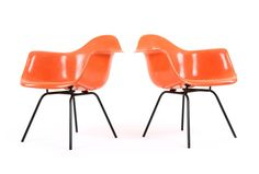 Watermelon Eames DAX Chairs for Herman Miller - Mr. Bigglesworthy Designer Vintage Furniture Gallery