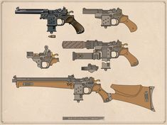 "bolt-carrier-assembly: ""vombavr: "" Squad 'Orchid' Weaponry "" I love this "" Steampunk Weapons, Sci Fi Weapons, Weapon Concept Art, Weapons Guns, Fantasy Weapons, Guns And Ammo, Ninja Weapons, Susanoo, Modelos 3d"