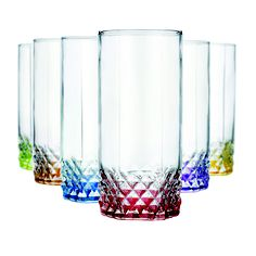 Home Essentials rainbow bottomed tumblers. I love these glasses. Image  links through to our 6f2d22198dd6
