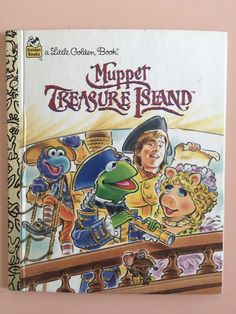 1995 Muppet Treasure Island story book - A Little Golden Book - Golden Books - The Muppets - Jim Henson by MuppetLoveVintage on Etsy