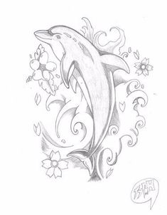Here is my first ever Dolphin Tattoo not to bad for a first time I think. I hope… Here is my first ever Dolphin Tattoo not to bad for a first time I think. I hope you all like it – See this image on Photobucket. Pencil Art Drawings, Easy Drawings, Animal Drawings, Tattoo Drawings, Body Art Tattoos, Art Sketches, Tatoos, Dolphin Drawing, Dolphin Art