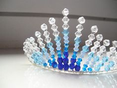 Atlantis Blue Swarovski Crystal Tiara/Head Piece by skullpixie, $30.00