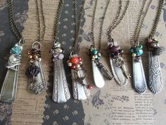 It's an image only, but these up-cycled spoon pendants are a cool DIY idea, eh?