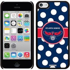 Atlanta Hawks Polka Dots Design on Apple iPhone 5c Thinshield Snap-On Case by Coveroo