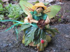 Forest Fairy Goddess Corn Doll, Garden Goddess, Fairy Garden Decor, Home Decor, Collectable Dolls, Housewarming Gift, Pagan Gift, Fantasy by FoxHuffDesigns on Etsy