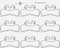 Lorax Mustache Template Straws