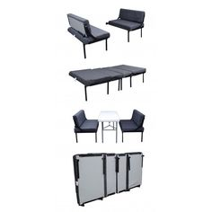 RB Components Folding Dinette/Sleeper