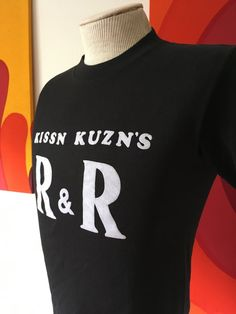Vintage Kissn Kuzn's R&R Small Black T-Shirt Hef-T by Tee Jays 50/50 by vintagebaron on Etsy