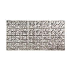 Traditional 1 - 2 ft. x 4 ft. Glue-up Ceiling Tile in Crosshatch Silver, G50-21 at The Home Depot - Tablet