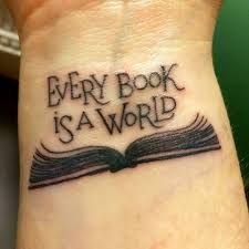 Image result for stack of books tattoo