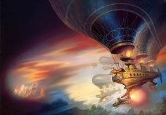 The Wooden Spaceships by AlanGutierrezArt