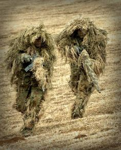 Ghillie suit for snipers.
