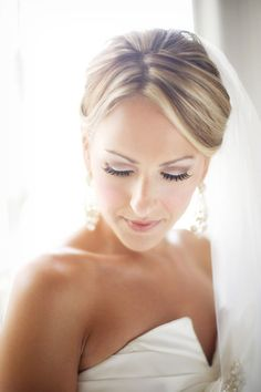 Pretty wedding day makeup