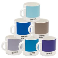 I think these would be an awesome wedding gift for a bride who's graphic designer! Pantone espresso mugs.