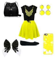 yellow yesterday by cupcakegirl897 on Polyvore featuring polyvore fashion style LE3NO Kate Spade Alexa Starr Casetify Amrita Singh clothing